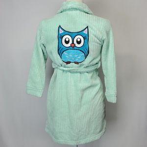 Joe Boxer plush owl girls robe size 6/6X